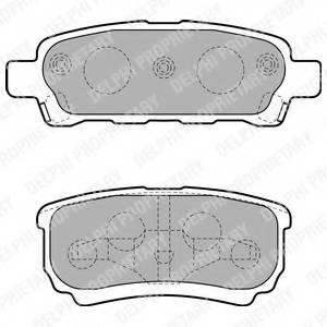 фото: [LP1852] DELPHI Колодки тормозные задние комплект на ось