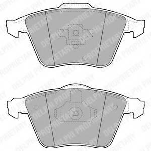 фото: [LP1943] DELPHI Колодки тормозные дисковые передние комплект на ось