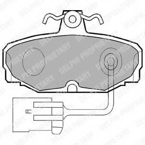 фото: [LP868] DELPHI Колодки тормозные дисковые задние комплект на ось