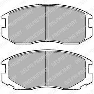 фото: [LP1594] DELPHI Колодки тормозные передние комплект на ось