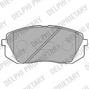 фото: [LP2050] Delphi Колодки тормозные передние комплект на ось