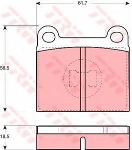 фото: [GDB663] TRW Колодки тормозные передние комплект на ось