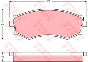 фото: [GDB765] TRW Колодки тормозные передние комплект на ось