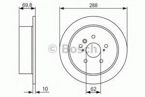 фото: [0986479614] Bosch Диск тормозной , комплект из 2-х шт.