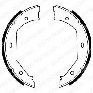 фото: [LS1857] DELPHI Колодки тормозные барабанные задние стояночного тормоза