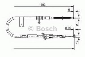 фото: [1987477066] Bosch Тормозной Трос