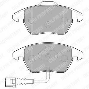 фото: [LP1837] Delphi Колодки тормозные передние комплект на ось SKODA OCTAVIA (1Z), VW PASSAT (3C_, 36_)