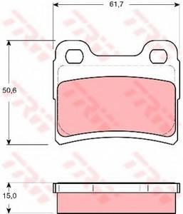 фото: [GDB1639] TRW Колодки тормозные задние комплект на ось
