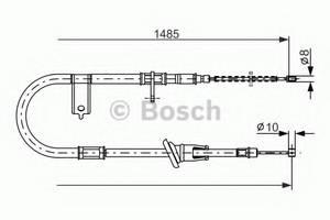 фото: [1987477614] Bosch Тормозной Трос