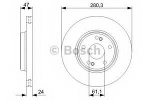 фото: [0986479743] Bosch Диск тормозной, комплект из 2-х шт.