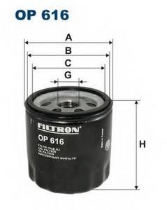 фото: [OP616] Filtron Фильтр масляный