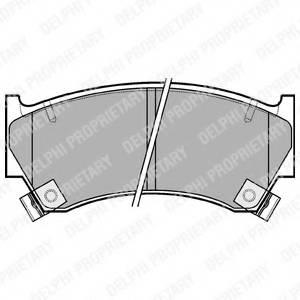 фото: [LP1590] DELPHI Колодки тормозные передние комплект на ось