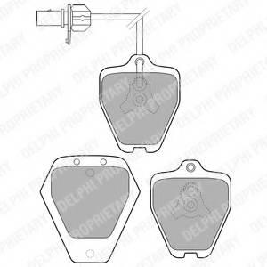 фото: [LP1760] DELPHI Колодки тормозные дисковые передние комплект на ось