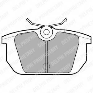 фото: [LP522] DELPHI Колодки тормозные задние комплект на ось