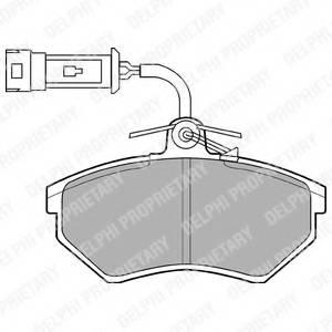 фото: [LP884] DELPHI Колодки тормозные дисковые передние комплект на ось