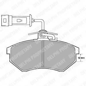 фото: [LP901] DELPHI Колодки тормозные дисковые передние комплект на ось