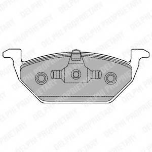 фото: [LP1436] Delphi Колодки тормозные передние комплект на ось