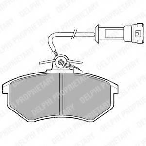 фото: [LP431] DELPHI Колодки тормозные дисковые передние комплект на ось