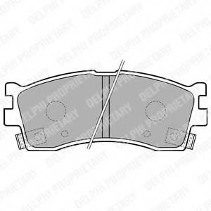 фото: [LP1702] Delphi Колодки тормозные передние комплект на ось