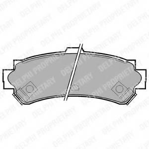 фото: [LP1012] DELPHI Колодки тормозные дисковые задние комплект на ось