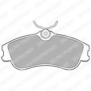 фото: [LP1624] DELPHI Колодки тормозные передние комплект на ось