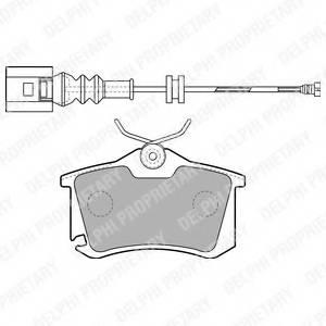 фото: [LP1815] Delphi К-т торм. колодок Re  VAG
