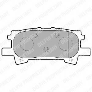 фото: [LP1820] Delphi К-т колодок торм. Re  Lexus RX