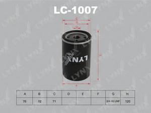 фото: [LC1007] LYNXauto Фильтр масляный
