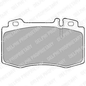 фото: [LP1828] DELPHI Колодки тормозные передние комплект на ось