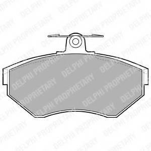 фото: [LP1409] DELPHI Колодки тормозные дисковые передние комплект на ось