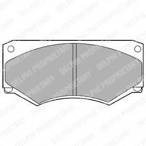 фото: [LP180] DELPHI Колодки тормозные дисковые передние комплект на ось