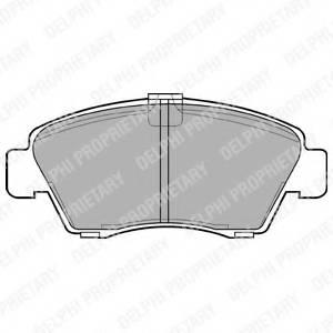 фото: [LP810] DELPHI Колодки тормозные передние комплект на ось