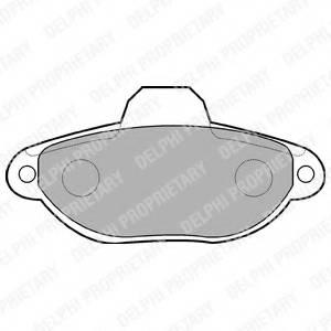 фото: [LP851] DELPHI Колодки тормозные передние комплект на ось