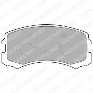 фото: [LP1901] Delphi К-т тормозных  колодок Fr  MI  Lancer 03-