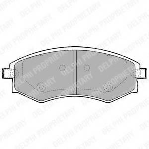 фото: [LP1928] DELPHI Колодки тормозные дисковые передние комплект на ось