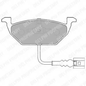 фото: [LP1514] Delphi Колодки тормозные передние комплект на ось