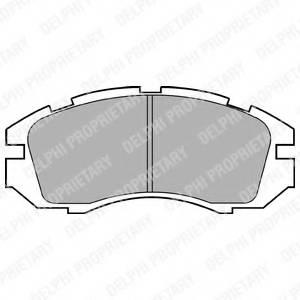 фото: [LP813] Delphi К-т колодок торм. Fr Subaru Le/ Im