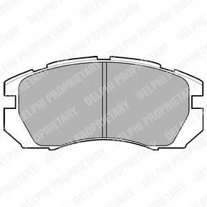фото: [LP930] DELPHI Колодки тормозные передние комплект на ось