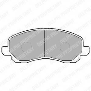 фото: [LP1684] Delphi Колодки тормозные передние комплект на ось
