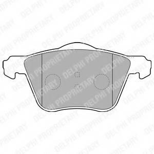 фото: [LP1787] Delphi Колодки тормозные передние комплект на ось