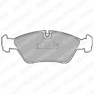 фото: [LP441] DELPHI Колодки тормозные дисковые передние комплект на ось
