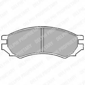 фото: [LP670] Delphi К-т колодок торм. Fr NI Primera 90-96