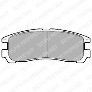 фото: [LP955] DELPHI Колодки тормозные задние комплект на ось