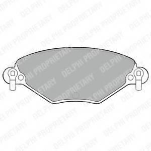 фото: [LP1654] DELPHI Колодки тормозные передние комплект на ось
