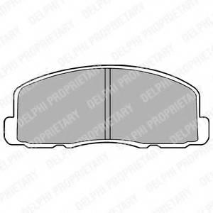 фото: [LP458] DELPHI Колодки тормозные дисковые передние комплект на ось