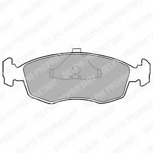фото: [LP587] DELPHI Колодки тормозные передние комплект на ось