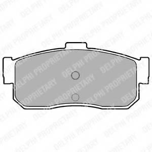 фото: [LP975] DELPHI Колодки тормозные задние комплект на ось