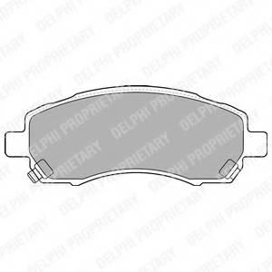 фото: [LP1545] DELPHI Колодки тормозные передние комплект на ось