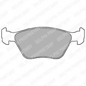 фото: [LP1602] DELPHI Колодки тормозные дисковые передние комплект на ось