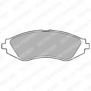 фото: [LP1779] Delphi Колодки тормозные передние комплект на ось